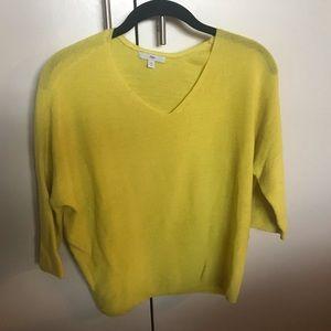 Gap Bright Yellow V-Neck Light Sweater